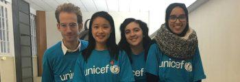 Stand UNICEF lors de la journée de lutte mondiale contre le Sida au Campus Arts et Métier de Paris